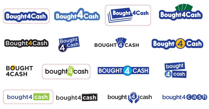 Bought4cash logos
