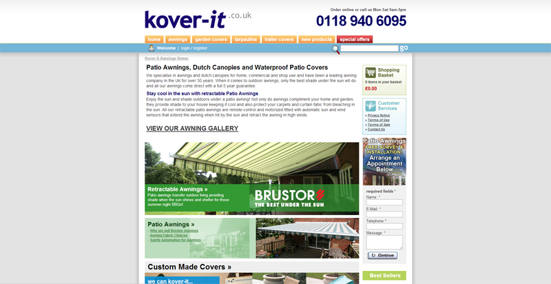 Kover It Original Website