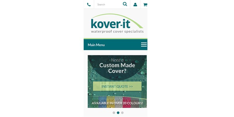 Mobile Kover It Menu