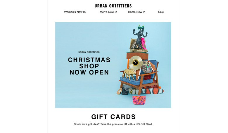 Urban Outfitters Christmas Email