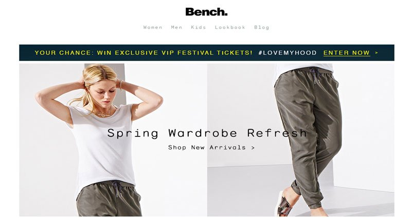 Bench online store magento