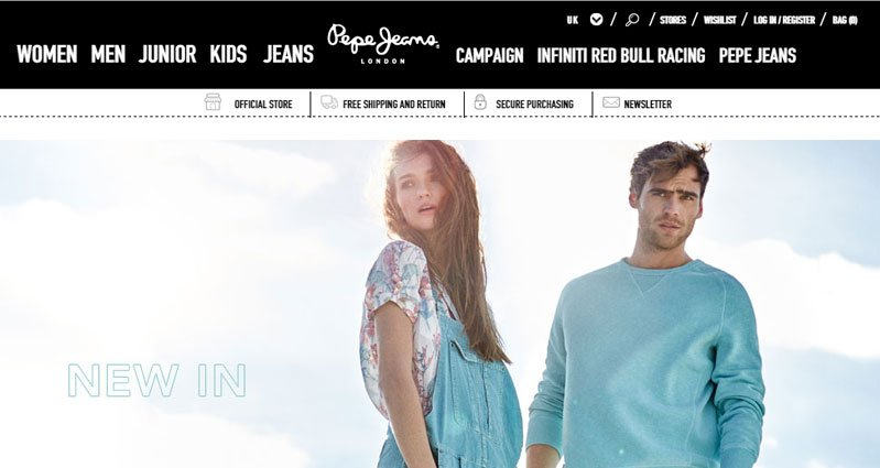 pepe jeans magento