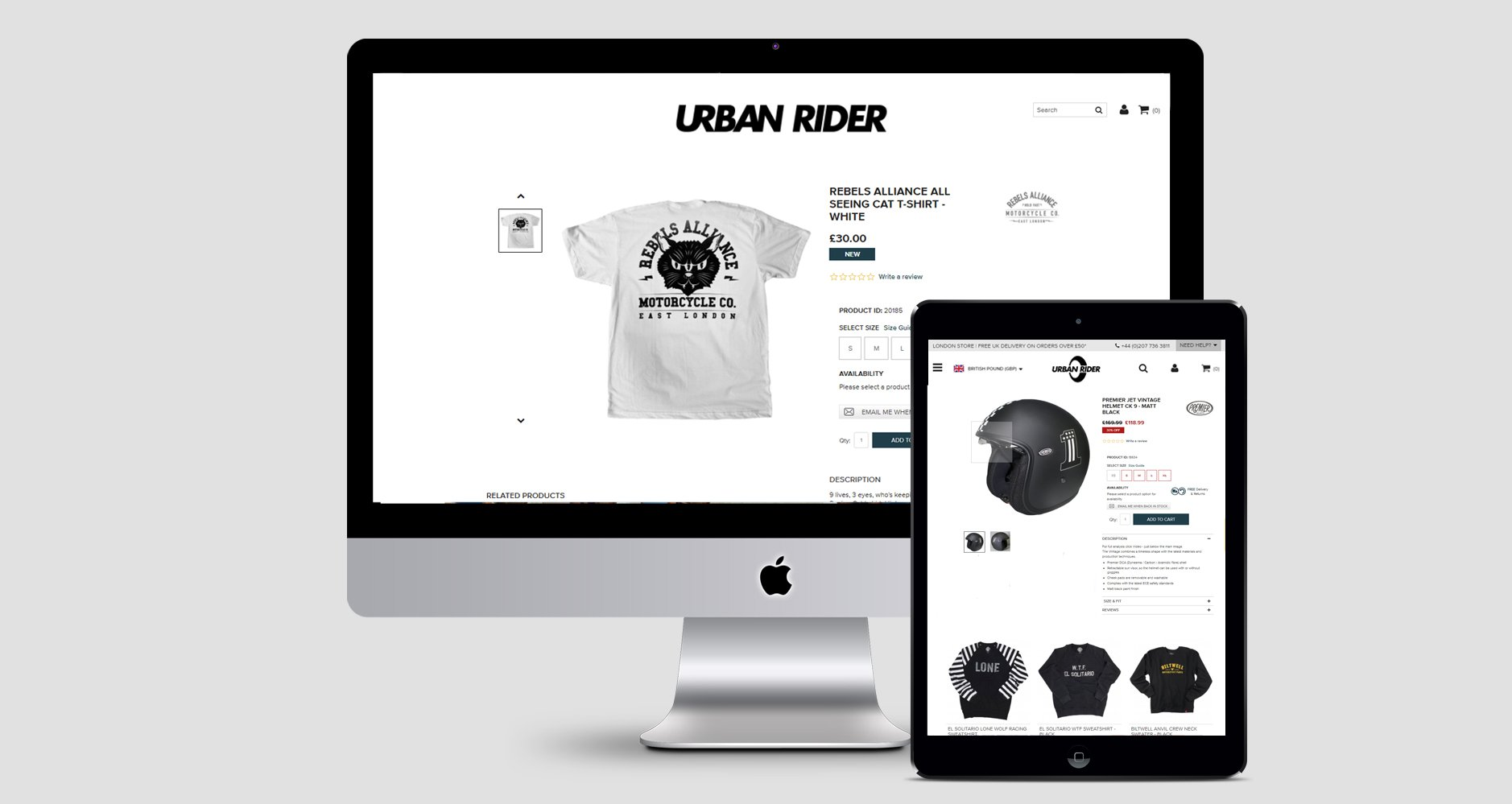 Urban Rider Website Desktop