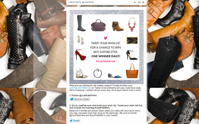 JustFab successfully use their social media to guide customers to their other revenue steams such as their website in order to drive sales