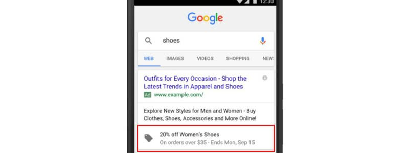 The new promotion extension is only available in the new Google AdWords interface and is shown with a shopping tag icon under ads on the SERPS.