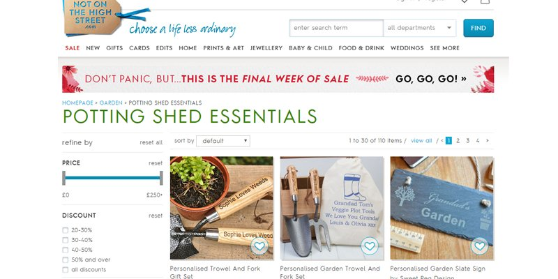 Even mundane products like potting shed tools can be personalised to differentiate from the standard items stocked by retail giants.