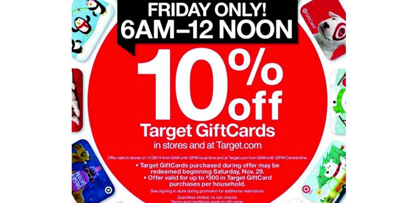 Target used their Black Friday marketing to give a discount on their gift cards which can be redeemed at a later day to drive repeat purchases.