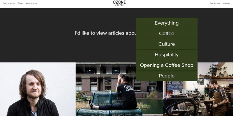 Ozone coffee is just one example of a niche business stepping outside of their comfort zone and diversifying their content range to reach a wider audience.