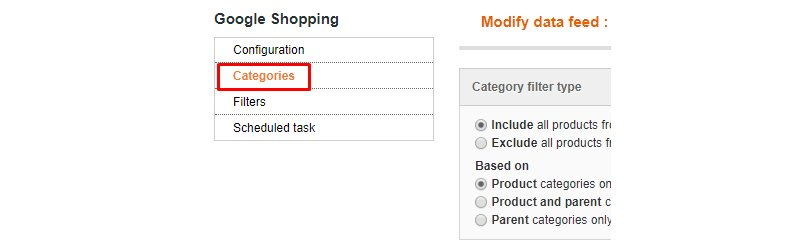 Simple Google Shopping Categories