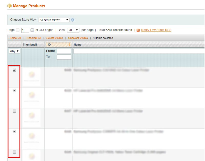 magento product updates