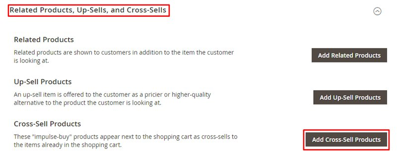 Magento 2 Cross-Selling