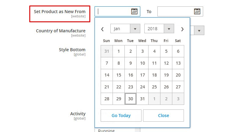 magento new product list