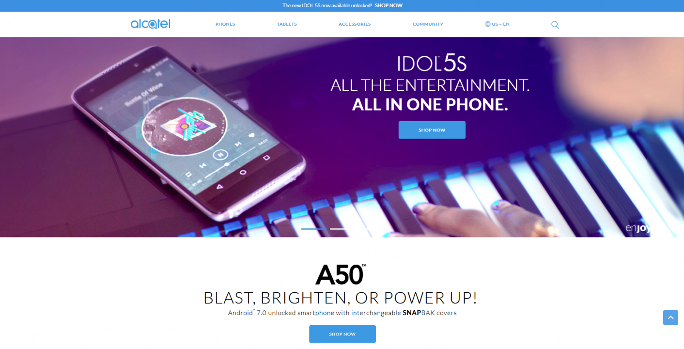 alcatel website
