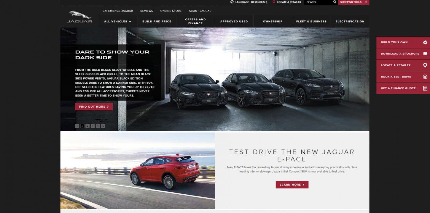 jaguar website