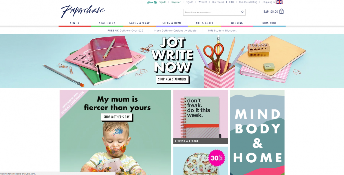 paperchase website