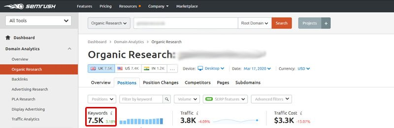 You can find the number of keywords you are ranking for in an SEO tool